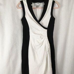 Joseph Ribkoff Form Fitting & Flattering BW Dress!